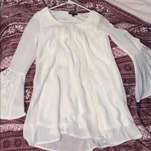 white flowy dress